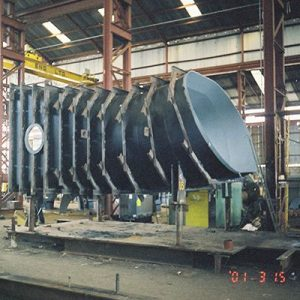 Shop Assembly of Draft Tube Liner Section for 60MW Francis Turbine