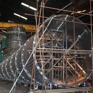 Shop Assembly of Draft Tube Liner for 350MW Pump Turbine