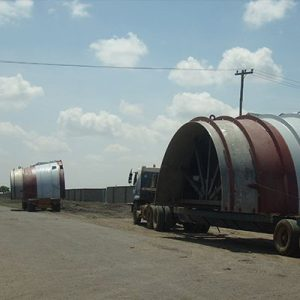 Transportation of Draft Tube  Cone Half-Pieces