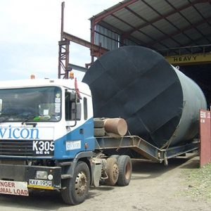 Transport of Oil Storage  Tank to Site
