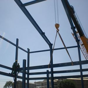 Installation of Engine Hall Steel Structure