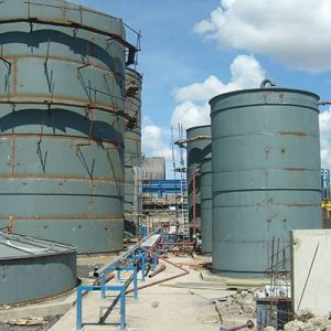 Installation of Oil Storage Tanks on Site
