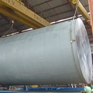Loading of Oil Storage Tank for Transport to Site
