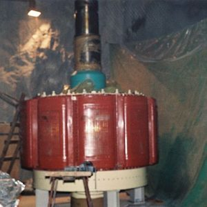 Assembly of 53MW Generator Rotor for Francis Unit