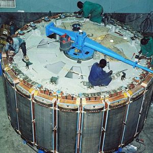 Assembly of 90MW Generator Rotor for Francis Unit