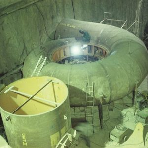 Installation of Spiral Casing  for 75MW Francis Turbine