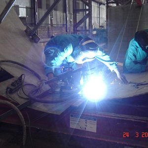 Pipe Welding -  Semi-Automatic Welding of Longitunal Seam