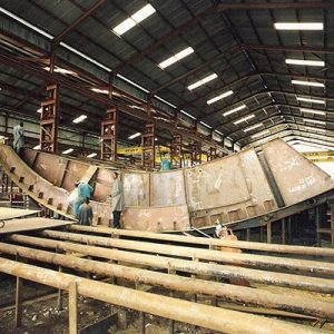 Spillway Radial Gate Fabrication in Workshop 1