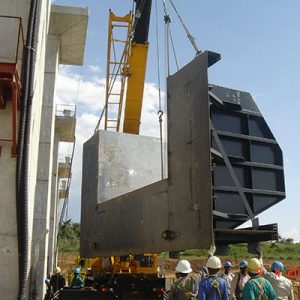 Installation of Spillway Flap Gate Panel